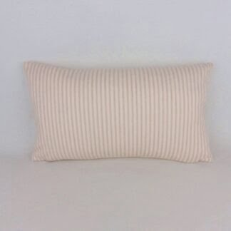 Pink Ticking Stripe Lumbar Cushion