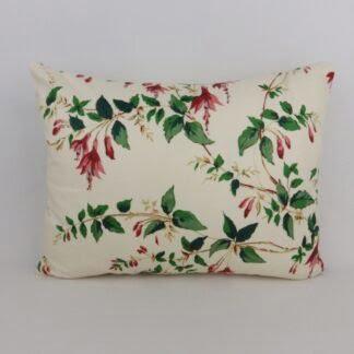 Vintage Red Trailing Fuchsia Floral Cushion