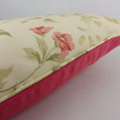 Sanderson Raspberry Rose Cushion