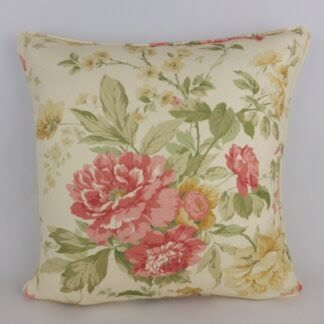 Sanderson Blewberry Rose Floral Cushion