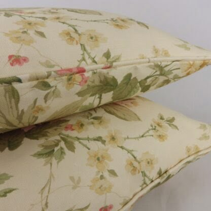 Sanderson Blewberry Rose Floral Cushion