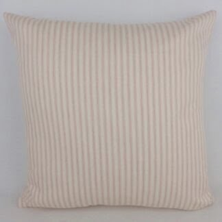 Pink Ticking Stripe Cushion