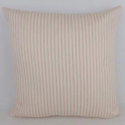 Pink Ticking Stripe Cushion