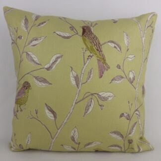 Sanderson Finches Fabric Bird Cushion