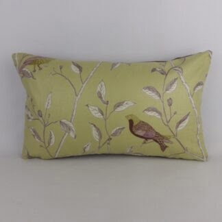 Finches Sanderson Fabric Bird Cushion