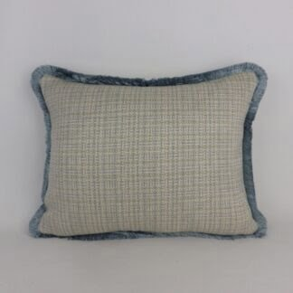 Blue Grey Fringed Cushions
