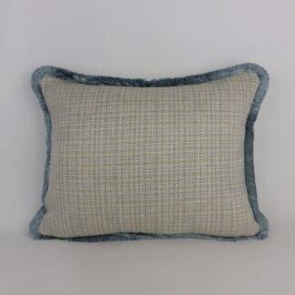 Blue Grey Fringed Cushions