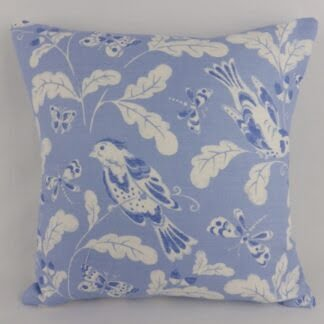 Blue White Bird Cushion