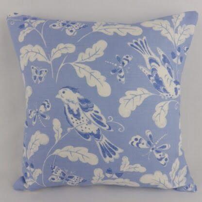 Blue White Bird Cushion