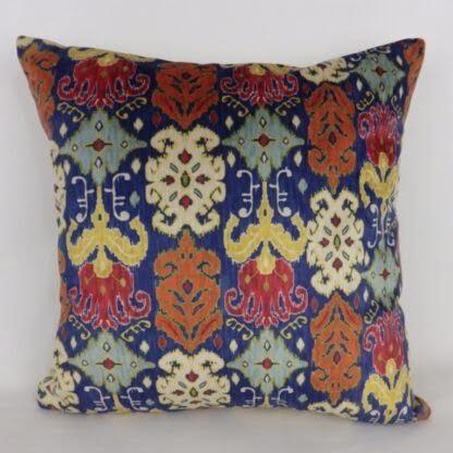 Designer Ikat Printed Velvet Cushions