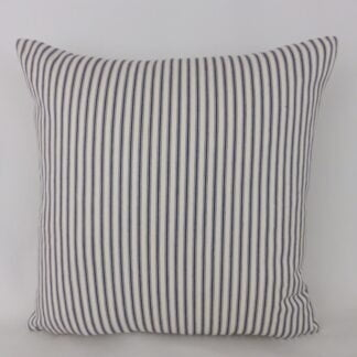 Classic Blue Ticking Stripe Cushion