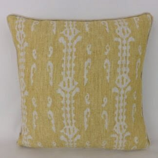 Mustard Natural Ethnic Woven Cushion