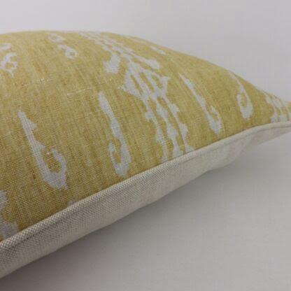 Mustard Natural Ethnic Woven Cushion