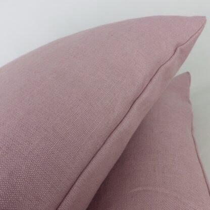 Plain Mauve Linen Cushion