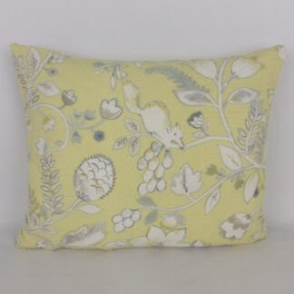 Yellow Grey Woodland Floral Cushions