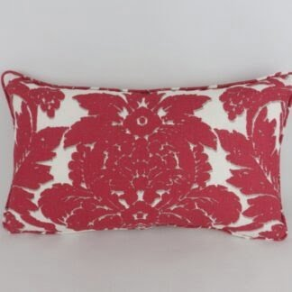 Melograno Schumacher Red Linen Fabric Cushion
