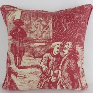 Vintage Red French Toile Cushion