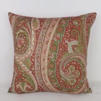 Red Wool Paisley Cushion