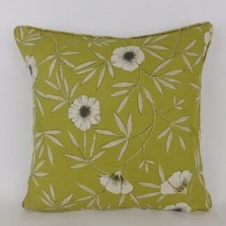 Natural Green Floral Cushions