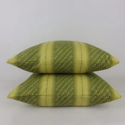 Green Spotted Striped Cushion