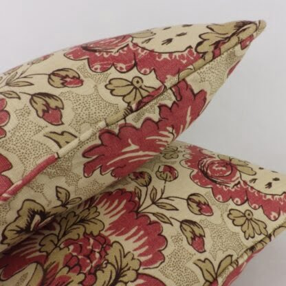 Red Natural Floral Cushions