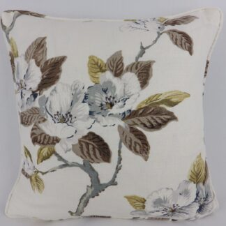 Grey Rose Floral Cushion