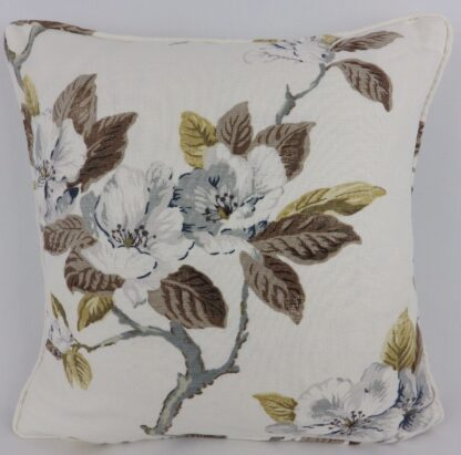 Grey Rose Floral Cushion