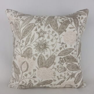 Schumacher Gloria Plaster Pink Floral Indienne Cushion