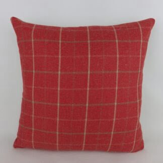 Red Linen Check Cushion
