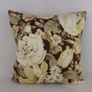 Vintage Sanderson Brown Floral Cushions