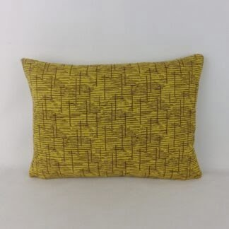 Mustard Yellow Brown Vintage Wool Cushion