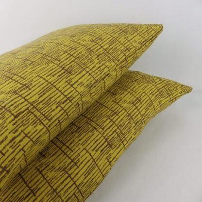 Mustard Yellow Brown Vintage Wool Cushion
