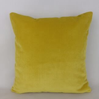 Mustard Gold Velvet Cushion