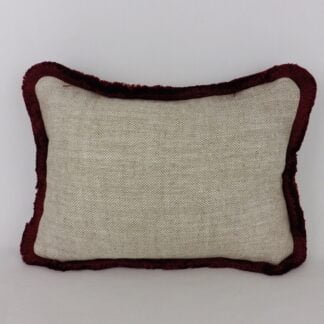 Red Fringed Cushion