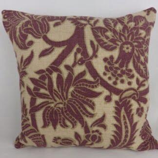 Sanderson Cornucopia Aubergine Purple Cushion