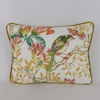 Bright Floral Bird Cushion