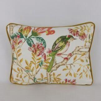 Bright Floral Bird Cushion
