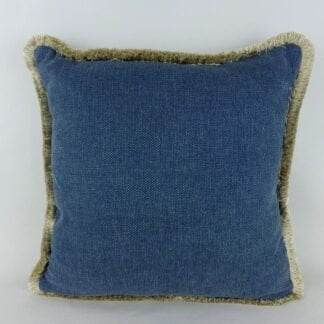 Blue Natural Fringe Cushion