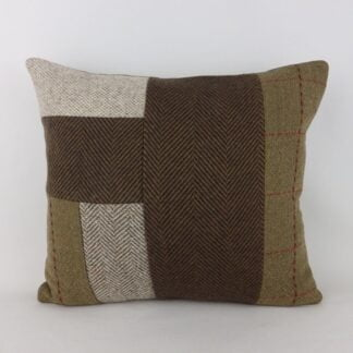 Wool Harris Tweed Patchwork Cushion