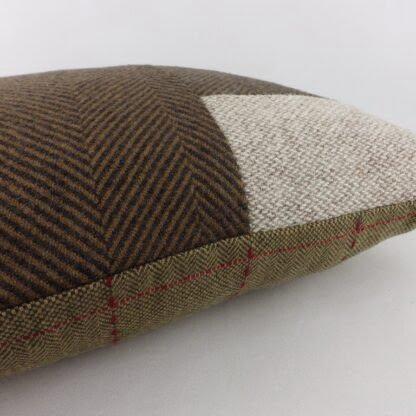 Wool Harris Tweed Patchwork Cushion