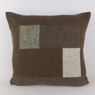Harris Tweed Wool Patchwork Cushion
