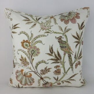 Designer Lee Jofa Seafield Bird Floral Cushion
