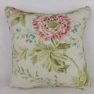 Sanderson Duck Egg Blue Pink Vintage Floral Cushion