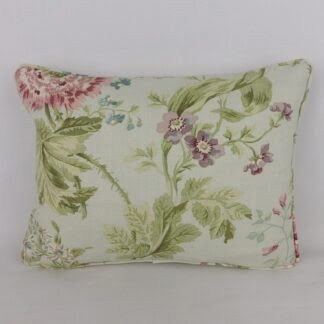 Vintage Sanderson Duck Egg Blue Pink Floral Cushion