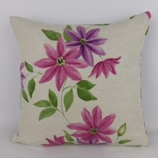 Sanderson Wisley Clematis Floral Cushions