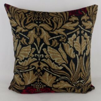 Large William Morris Tulip and Rose Cushion
