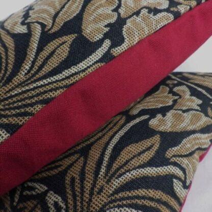 Large William Morris Tulip and Rose Cushion
