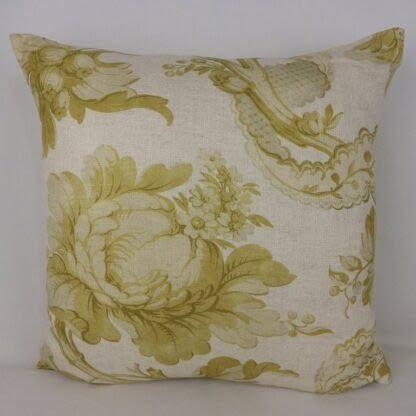 Large Chartreuse Floral Garden Cushion