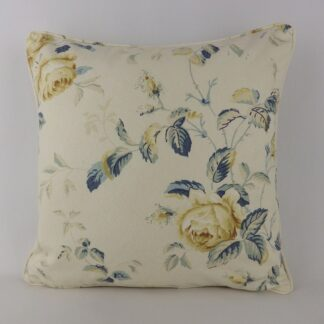 Blue Vintage Trailing Roses Cushion