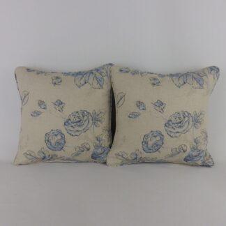 Joie de Vivre Sanderson Rose Floral Toile mini Cushions